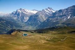 2500在高度jungfrau级别之上测量区域海运瑞士 库存照片