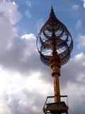 在高棉寺庙的人工制品 免版税图库摄影