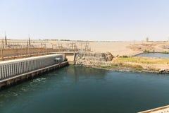 在高水坝-埃及的阿斯旺水坝 图库摄影