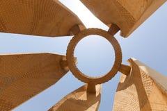 在高水坝-埃及的阿斯旺水坝 免版税图库摄影