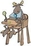 在高脚椅子的小麋 免版税库存图片