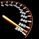 在高费率的车速表 免版税图库摄影