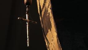 在高跷的一艘筏在印度 影视素材
