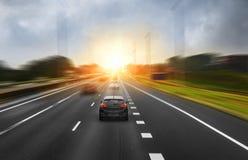 在高途中的交通 免版税图库摄影