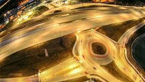 在高速公路互换的天线在绿湾威斯康辛附近 免版税图库摄影