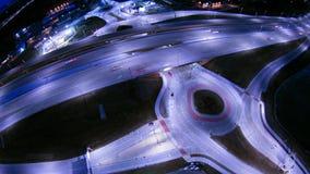 在高速公路互换的天线在绿湾威斯康辛附近 免版税库存照片