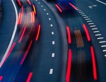 在高速公路的业务量 图库摄影