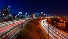 在高速公路的光线索 库存照片