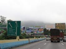 在高速公路的囤积居奇 免版税库存图片