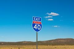 在高速公路的标志 库存照片