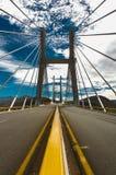 在高速公路的桥梁从阿卡普尔科垂直的墨西哥城 库存照片