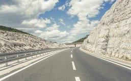 在高速公路的桥梁 免版税库存照片