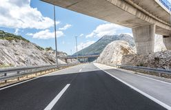 在高速公路的桥梁 图库摄影