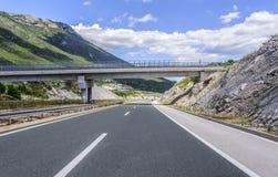 在高速公路的桥梁 免版税库存图片