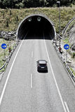 在高速公路的隧道 库存照片
