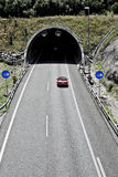 在高速公路的隧道 免版税库存图片