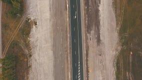 在高速公路的顶视图 股票录像