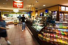 在高速公路A5机动车路的小餐馆在德国 免版税库存照片
