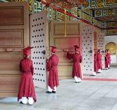 在高雄孔子寺庙的孔子仪式 免版税库存照片