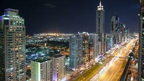 在高轻的街道上的时间间隔在迪拜 影视素材