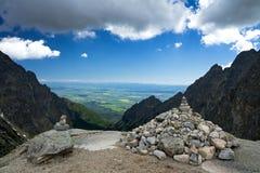 在高Tatra的冷谷 图库摄影