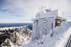 在高Tatras山的冬天 高Tatry 斯洛伐克 免版税库存图片