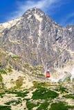 在高Tatras的高峰Lomnicky 库存图片