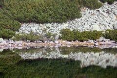 在高Tatras,斯洛伐克的塔恩省Skalnate pleso 免版税库存图片