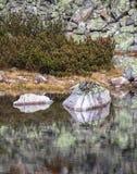 在高Tatras,斯洛伐克的塔恩省Skalnate pleso 免版税图库摄影
