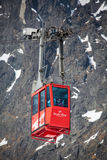 在高Tatras,斯洛伐克的索道 免版税库存照片