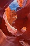 在魔术羚羊峡谷的优美的曲拱 免版税库存照片
