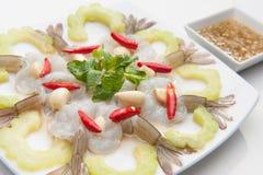 在鱼子酱的虾 图库摄影