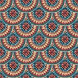 在鱼鳞设计的无缝的几何样式。 库存图片