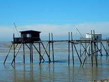 在鲁瓦扬附近的经典渔夫` s村庄 免版税库存图片