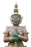 在鲜绿色菩萨的寺庙的绿色巨人 库存图片