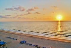 在鲳参的佛罗里达日出 免版税图库摄影