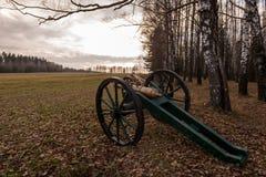 在鲽鱼战场的两个教规重建的Berezina的1812battle在Berezina河,白俄罗斯的 库存图片
