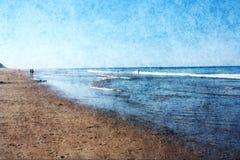 在鳕鱼角的海滩 免版税库存图片