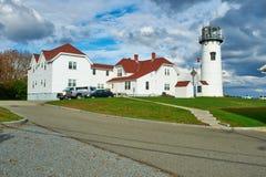 在鳕鱼角的Chatham灯塔 免版税库存照片