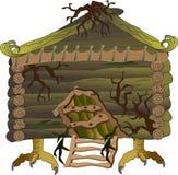 在鸡腿的童话小屋 库存例证