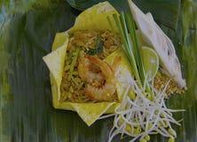 在鸡蛋包裹的垫泰国 库存图片