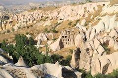 在鸽子谷的美好的风景,在卡帕多细亚,土耳其 免版税库存照片