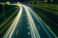 在鹿特丹附近的高速公路 库存图片