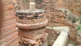 在鹿野苑废墟的Panchytan寺庙 免版税库存图片