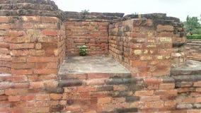 在鹿野苑的废墟在瓦腊纳西 免版税库存照片