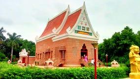 在鹿野苑的菩萨寺庙 图库摄影