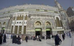 在麦加的Haram清真寺外面看法  免版税库存照片