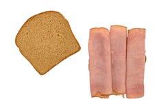 在麦子面包的维吉尼亚火腿三明治 免版税图库摄影
