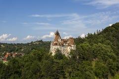 在麸皮的德雷库拉城堡 库存图片