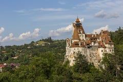 在麸皮的德雷库拉城堡 库存照片